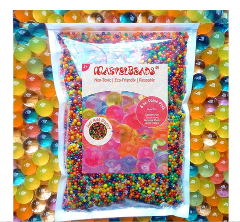 MarvelBeads Water Beads Rainbow Mix 8 oz (20000 beads) for Orbeez Spa Refill ... - Chickadee Solutions - 1