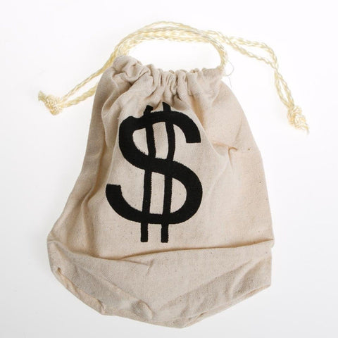 """$"" Money Drawstring Bag - Chickadee Solutions"