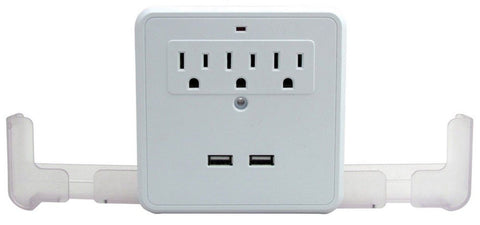 Perfect Life Ideas AC USB Wall Outlet Surge Protector Power Strip Outlet Mult... - Chickadee Solutions - 1