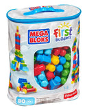 Mega Bloks First Builders Big Building Bag 80-Piece (Classic) Blue - Chickadee Solutions - 1