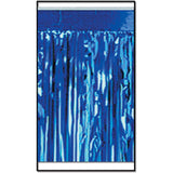 2-Ply FR Metallic Fringe Drape (blue) Party Accessory (1 count) - Chickadee Solutions