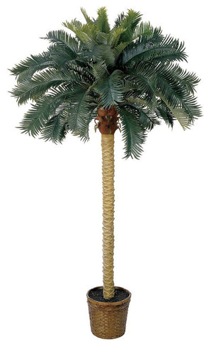 Nearly Natural 5107 Sago Palm Silk Tree 6-Feet Green - Chickadee Solutions