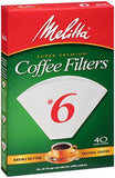 Melitta Cone Coffee Filters White No. 6 40-Count Filters (Pack of 12) - Chickadee Solutions - 1