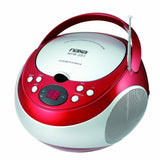 NAXA Electronics NPB-251RD Portable CD Player with AM/FM Stereo Radio Red - Chickadee Solutions