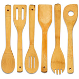 Bamboo Cooking Utensil-Set (6-Pieces) - Utopia Kitchen - Chickadee Solutions - 1