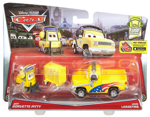 Disney/Pixar Cars Jeff Gorvette's Pitty and Chief John Lassetire Vehicle 2-pack - Chickadee Solutions - 1