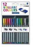 Staedtler Back-to-School 12 Brilliant Multi Colors Triplus 0.3mm Fineliner Pe... - Chickadee Solutions - 1
