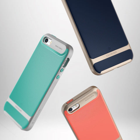 caseology wavelength series iphone se case pink gold hard come