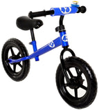 Childrens Balance Bike No Pedal Push Bicycle for Girls or Boys Blue - Chickadee Solutions - 1