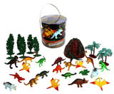 Dinosaur Action Figures - Big Bucket of Dinosaurs - Huge 30 Piece Set Full of... - Chickadee Solutions