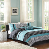 Mizone Chloe 4 Piece Comforter Set Full/Queen Teal - Chickadee Solutions - 1