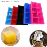 Mdairc 8 cubes FDA Silicone large Ice cube tray large ice mold BPA free Durab... - Chickadee Solutions - 1