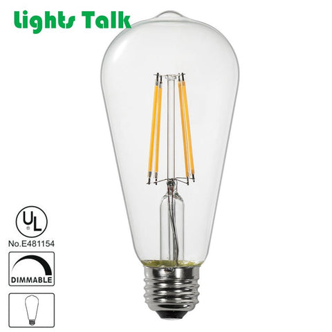 1-Pack Lights Talk LED Vintage Filament Bulb 7W to replace 60W ST21 Edison St... - Chickadee Solutions - 1