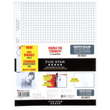 "Five Star Filler Paper Graph Ruled Reinforced Loose-Leaf 11 x 8 1/2"" Sheet Si... - Chickadee Solutions"