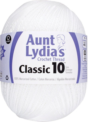 Aunt Lydia 153.0201 Jumbo Crochet Cotton White - Chickadee Solutions