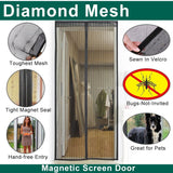 "Magnetic Screen Door Mesh Curtain Full Frame Velcro.SCREEN DOOR SIZE 39""x 99""... - Chickadee Solutions - 1"