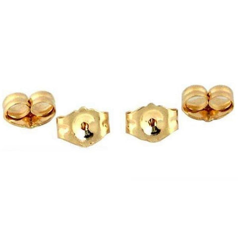 4 14K Yellow Gold Earring Backs Ear Post Nuts Deluxe - Chickadee Solutions