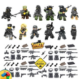 12 SWAT Special forces figures Including Flags & Symbols and military accesso... - Chickadee Solutions - 1