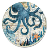 CounterArt Monterey Bay Octopus Absorbent Coasters Set of 4 CounterArt - Chickadee Solutions