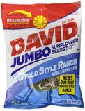David Seeds Jumbo Sunflower Buffalo Ranch 5.25 Ounce (Pack of 12) 5.25 oz - Chickadee Solutions - 1