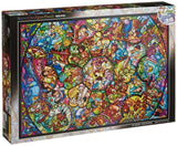 Disney Stained Art Jigsaw Puzzle[1000P] All Stars Stained Glass (DS-1000-764) - Chickadee Solutions - 1