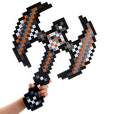 "8 Bit Pixelated Foam Savage AXE Sword Toy 24"" - Chickadee Solutions - 1"