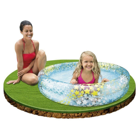 "Intex Inflatable Stars Kiddie 2 Ring Circles Swimming Pool (48"" X 10"") [Assor... - Chickadee Solutions - 1"