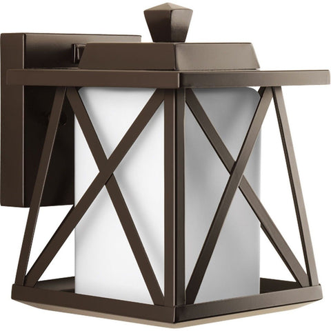 Progress Lighting P6047-20 1-Light Wall Lantern with Etched Opal Glass Square... - Chickadee Solutions