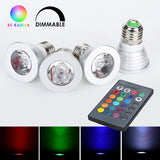 Weanas 4x E27 RGB Color Changing LED Light Bulb Lamp with Remote Control 3 Wa... - Chickadee Solutions - 1