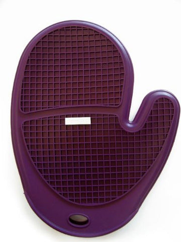 "Siliconezone 10"" Silicone Grid Oven Mitt Eggplant/Grey - Chickadee Solutions - 1"