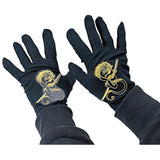 Rubies Child's Black Ninja Gloves Standard - Chickadee Solutions
