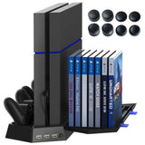 Kootek PS4 Vertical Stand Cooling Fan Controller Charging Station with Game S... - Chickadee Solutions - 1