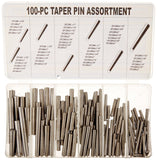 HHIP 8070-0034 100 Piece Taper Pin Assortment - Chickadee Solutions - 1