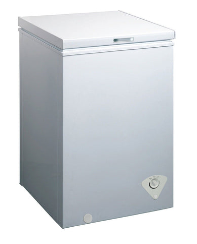 midea WHS-129C1 Single Door Chest Freezer 3.5 Cubic Feet White - Chickadee Solutions - 1