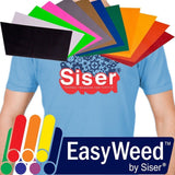"SISER EasyWeed Heat Transfer Vinyl 12 x 15"" 12-Color Starter BUNDLE - Chickadee Solutions"