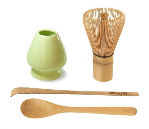 BambooMN Brand - Matcha Green Tea Whisk Set - Set of 4 Items. Whisk + Scoop +... - Chickadee Solutions