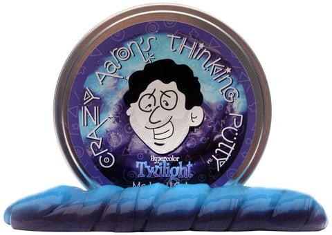 Crazy Aaron's Thinking Putty Heat Sensitive Hypercolor Twilight 3.2 oz - Chickadee Solutions