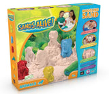 3D Safari Animal Sand Molds Set - 1 lb Sands Alive 3 3D Animal Shapes 2 Rolle... - Chickadee Solutions - 1
