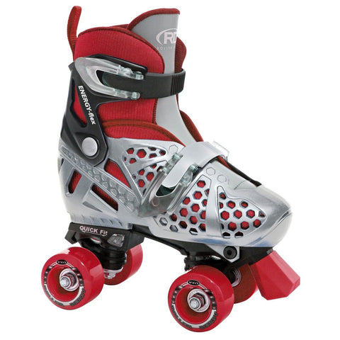 Roller Derby Boy's Trac Star Adjustable Roller Skate Black/Red Medium - Chickadee Solutions