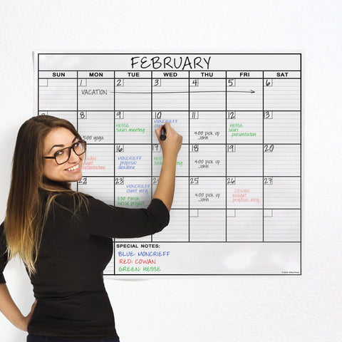 OfficeThink Laminated Jumbo Calendar Huge 36-Inch by 48-Inch Size Extra Large... - Chickadee Solutions - 1