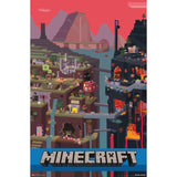 "Minecraft Cube 22"" x 34"" Wall Posters - Chickadee Solutions"