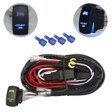 mictuning LED Light Bar Wiring Harness 30 Amp Fuse ON-OFF Laser Rocker Switch... - Chickadee Solutions - 1