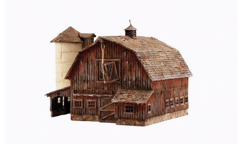 Woodland Scenics 4932 N Built-Up Old Weathered Barn - Chickadee Solutions - 1