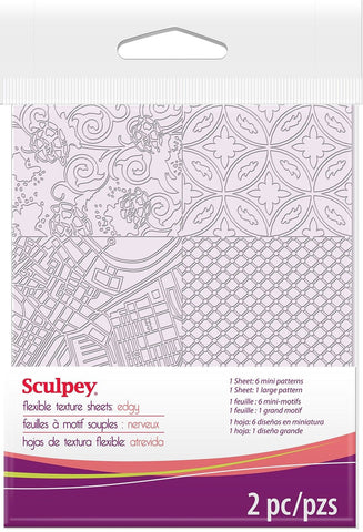 Polyform ASTM009 Sculpey Texture Sheet Edgy Polyform - Chickadee Solutions