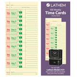 Lathem Weekly Time Cards Double-Sided for Lathem Model 2121/Side-Print Time C... - Chickadee Solutions - 1