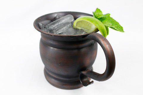Bundle 16oz Solid Copper Mug Barrel Unlined 100% Pure Moscow Mule Antique Fin... - Chickadee Solutions - 1