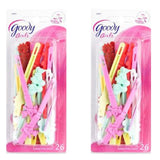 Goody - Girls Sassy Self Hinge Hair Barrettes - 52 Count Assorted Colors 2-Pack - Chickadee Solutions