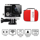 SportShot Slim 2'' Wifi HD 1080P Waterproof Sports Camera - Red Delicate Shoc... - Chickadee Solutions - 1