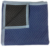 Moving Blankets - Pro Quality - 72 x 80 Inches - Blue & Black - by Cheap Chea... - Chickadee Solutions
