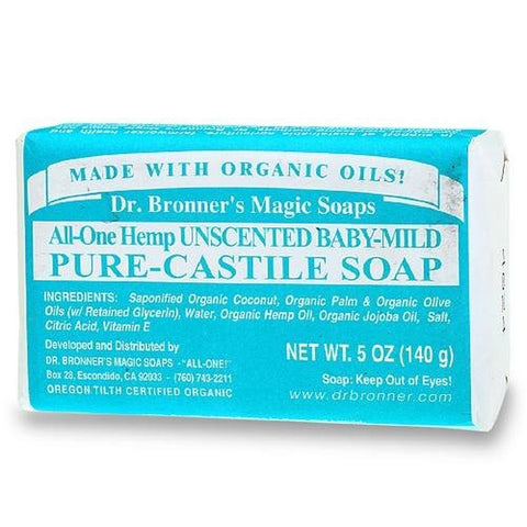 Dr Bronner Bar Soap Organic Mild Baby 5 oz ( 12-Pack) - Chickadee Solutions